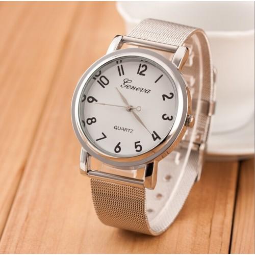 Montre pour Elle / blanc / bracelet métal / GN1001SV