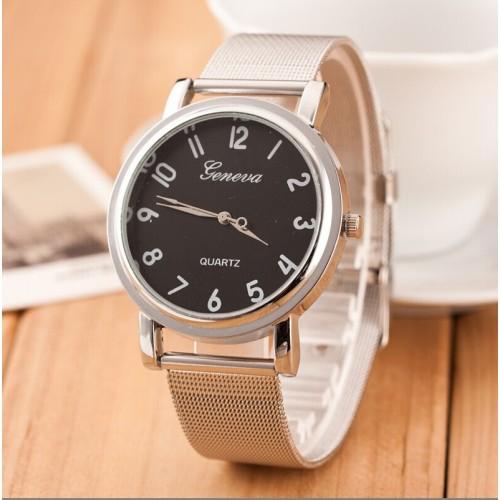 Montre pour Elle / noir / bracelet métal / GN1001BL