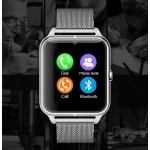 Smartwatch Phone SMP3002 Silver / metal wristband / sim card / sms / phone calls / 4G memory