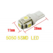 LED Light bulbs 10pcs T10 Wedge 5-SMD 5050 Xenon