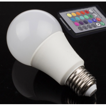 Couleur ampoule LED RGB 9W Intensité réglable