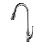 Kitchen Faucet / Brushed Nickel / iFaye Sanitary KF1017