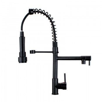 Kitchen Faucet / Oil Rubbed Bronze / Pull Down with LED lights / iFaye Sanitary KF1047