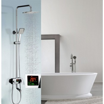 Shower Faucet / LED Temperature&Shower Time Display / Chrome / SF1015 / iFaye Sanitary