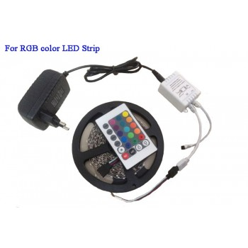 RGB strip / with power cord / 5M / remote