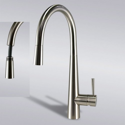 Kitchen Faucet / Brushed Nickel / iFaye Sanitary KF1024