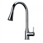 Kitchen Faucet / Chrome / LED Lights / iFaye Sanitary KF1026