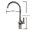 Kitchen Faucet / Chrome / iFaye Sanitary KF1027
