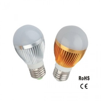 Gold Aluminium LED Bulb 9W Warm White Dimmable